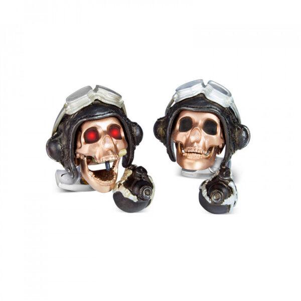 Limited Edition LED Pilot Skull Cufflinks