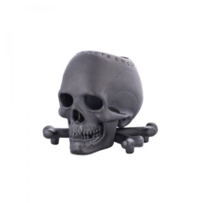 Black Skull and Cross bones Vesta/Candle-holder