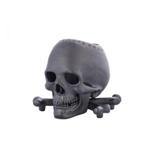 Black Skull and Cross bones Vesta/Candle-holder