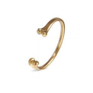 Fundamentals Bone Bangle - Gold Finish