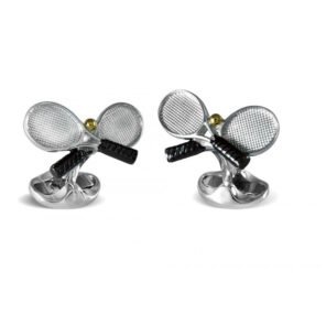 Sterling Silver Tennis Racket Cufflinks