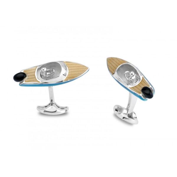 Sterling Silver Speed Boat Cufflinks