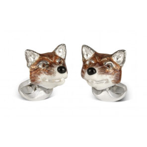Sterling Silver Fox Head Cufflinks
