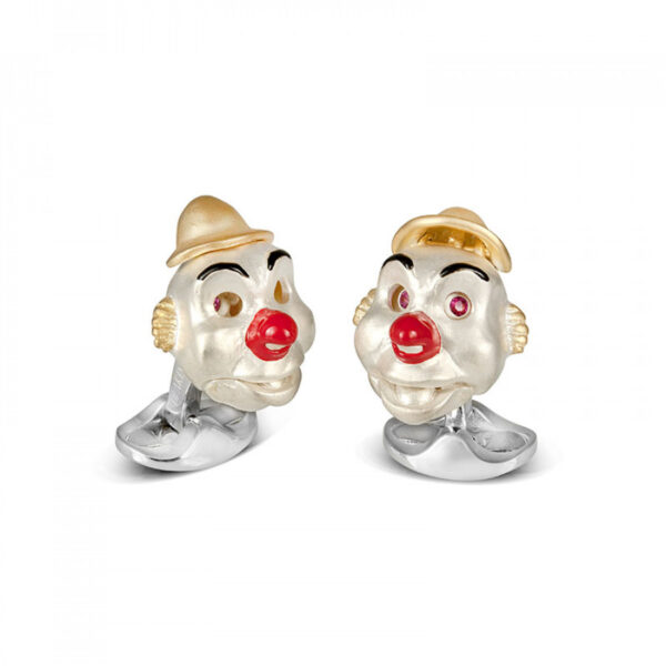 Sterling Silver Clown Cufflinks