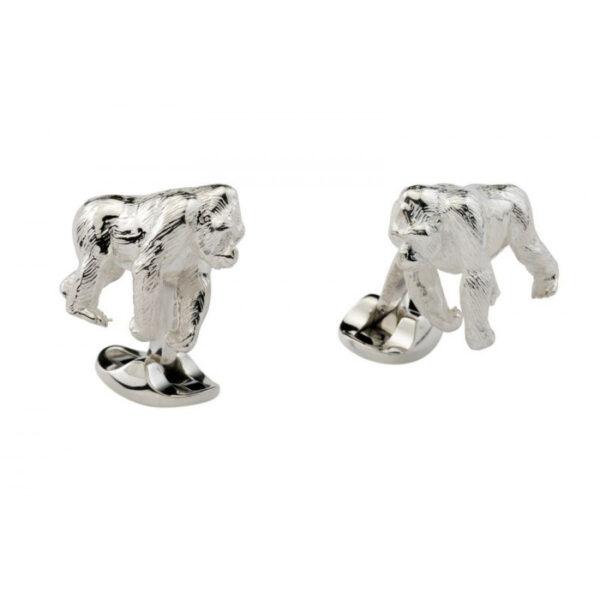 Sterling Silver Gorilla Cufflinks