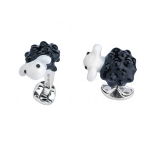 Sterling Silver Black Sheep Cufflinks