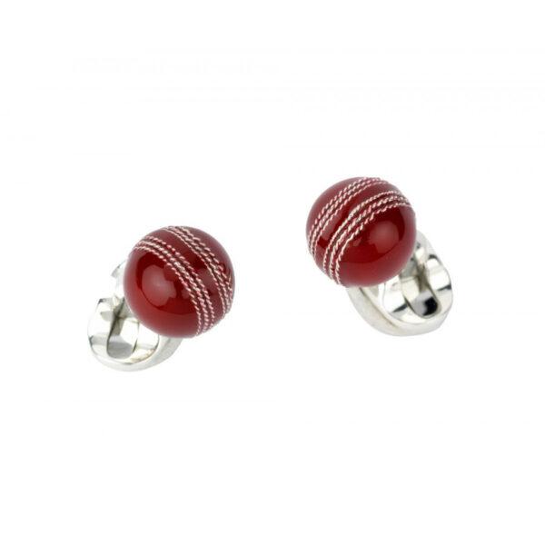 Sterling Silver Cricket Ball Cufflinks