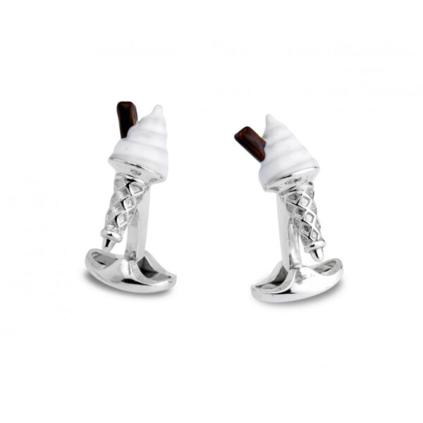 Sterling Silver Ice Cream Cufflinks