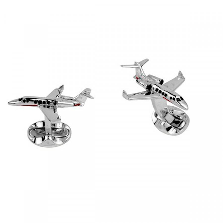 Sterling Silver Jet Cufflinks