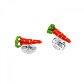 Sterling Silver Carrot Cufflinks