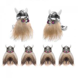 Hairy Viking Skull with Black Helmet and Ruby Eye Dress Set