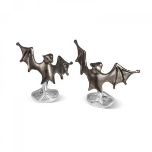 Sterling Silver 'Lurking' Bat Cufflinks