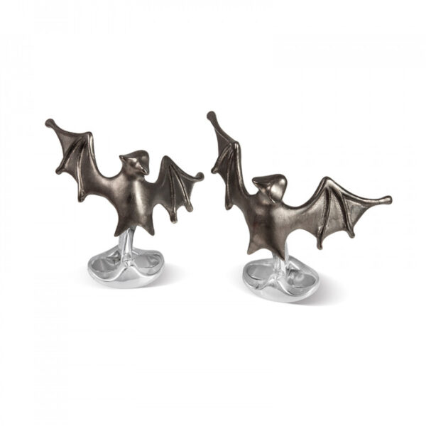 Sterling Silver 'Lurking' Bat Cufflinks