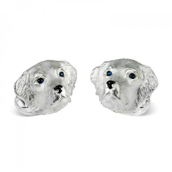Sterling Silver Retriever Dog Cufflinks
