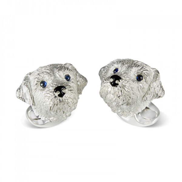 Sterling Silver Border Terrier Dog Cufflinks