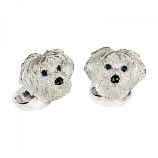 Sterling Silver Shih Tzu Dog Cufflinks