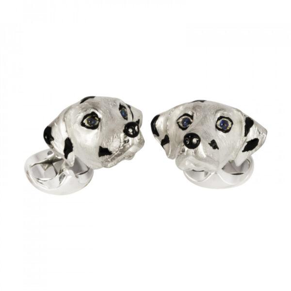Sterling Silver Dalmatian Dog Cufflinks
