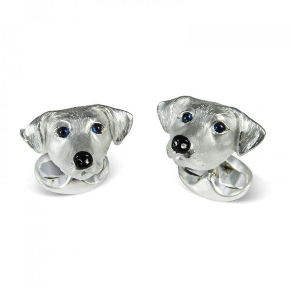 Sterling Silver Jack Russell Dog Cufflinks