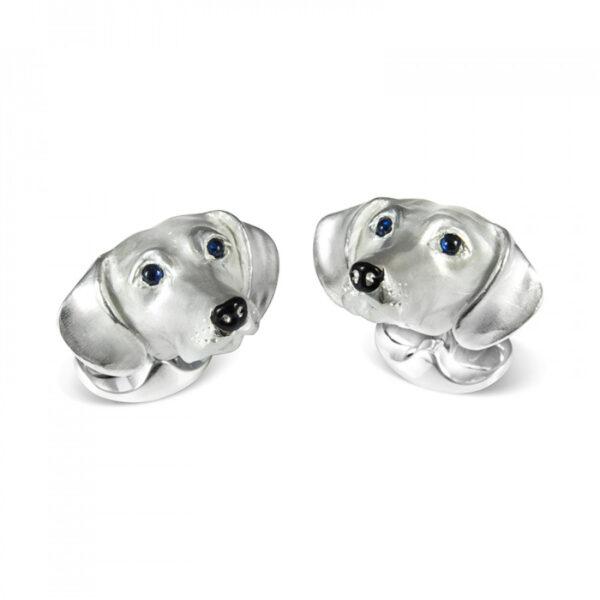Sterling Silver Dachshund Dog Cufflinks
