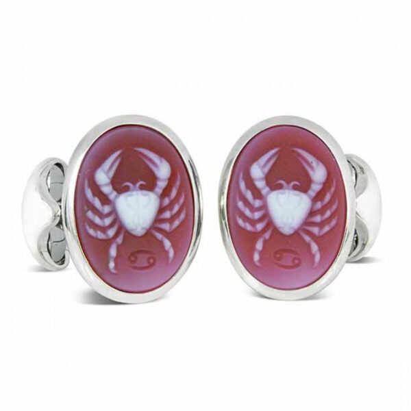 Sterling Silver Zodiac Cufflinks - Cancer