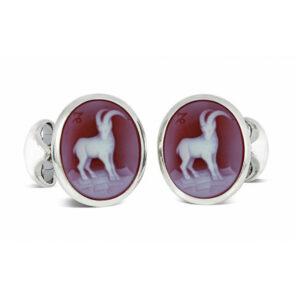 Sterling Silver Zodiac Cufflinks - Capricorn