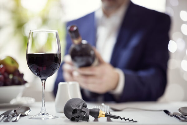Luxury Skull Cork Screw In Matte Black Finish