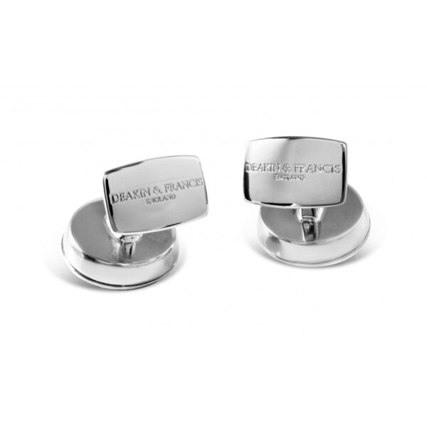 Square Engine Turned Cufflinks