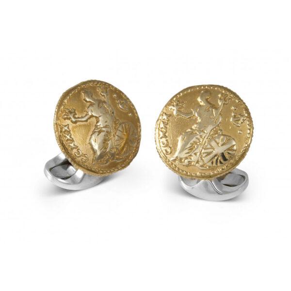 Sterling Silver 230 Coin Cufflinks - Royal Britannia