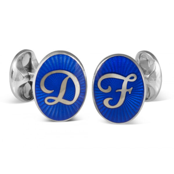 Sterling Silver Personalised Initial Cufflinks