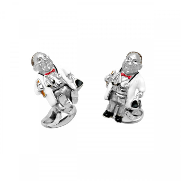 Sterling Silver Doctor Cufflinks