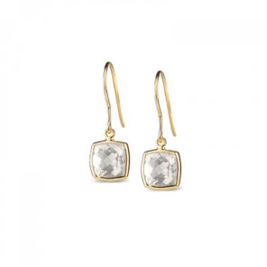 Leora Cushion Shaped White Topaz Drop Earring