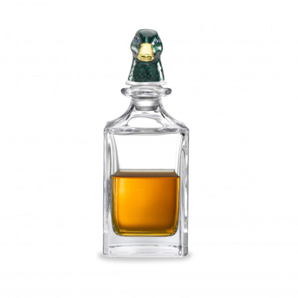 Green Duck Head Crystal Decanter