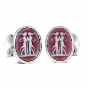 Sterling Silver Zodiac Cufflinks - Gemini