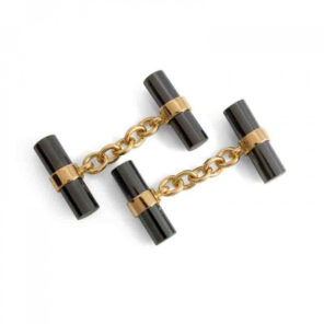 18ct Yellow Gold Bloodstone Chain Cufflinks