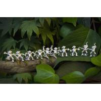 Sterling Silver 'Tom' Dancing Monkey Cufflinks