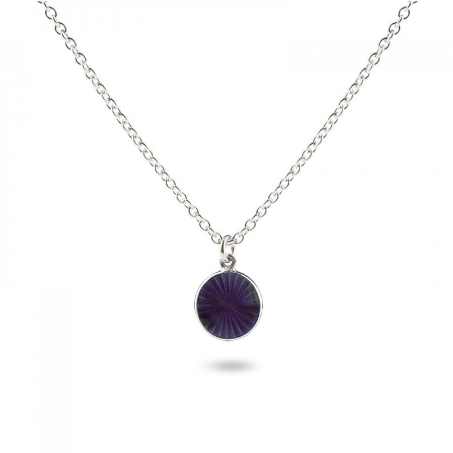 Valentina Sterling Silver Small Purple Pendant