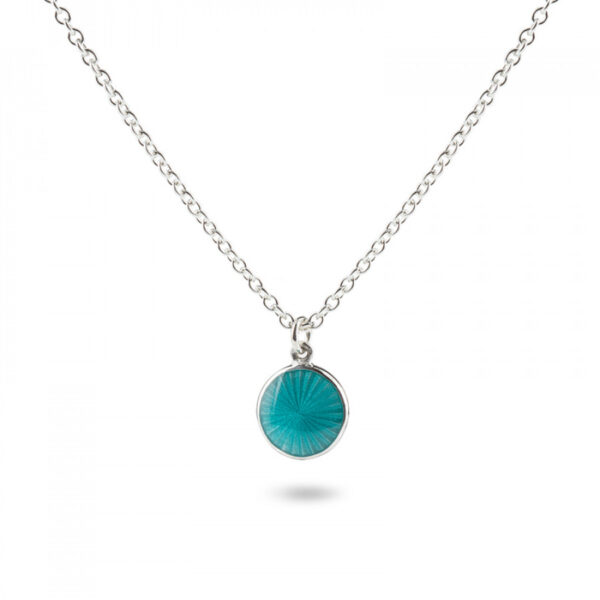 Valentina Sterling Silver Small Turquoise Pendant