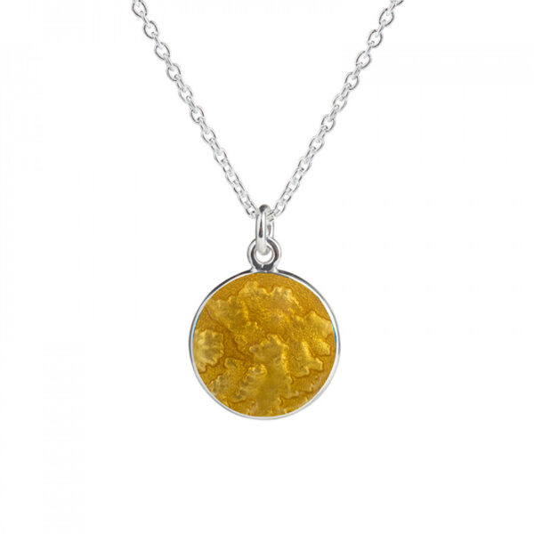 Valentina Sterling Silver Large Gold Pendant
