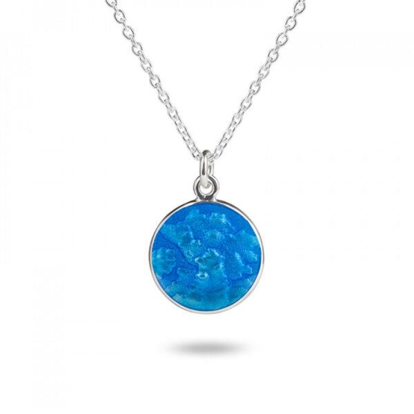 Valentina Sterling Silver Large Blue Pendant