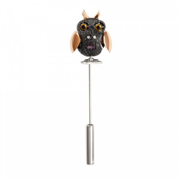 Mechanical Owl Lapel Pin