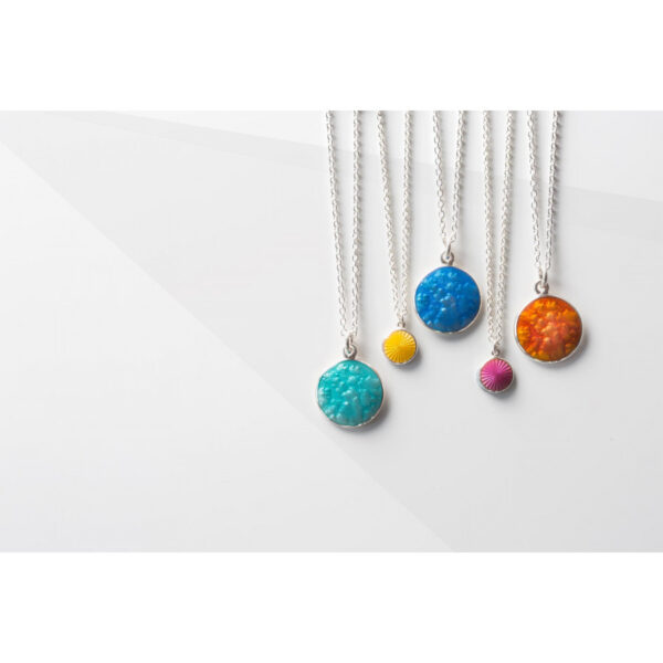 Valentina Sterling Silver Large Turquoise Pendant