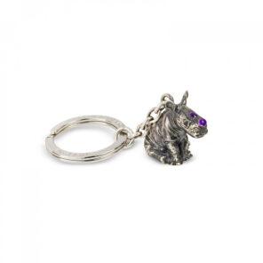 Sterling Silver Rhino Keyring
