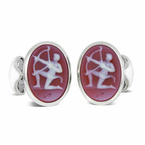 Sterling Silver Zodiac Cufflinks - Sagittarius