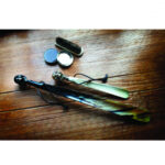 Travel Size Shoehorn with High Shine Skull Head