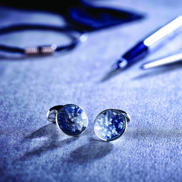 Grey Blue Winter Haze Cufflinks