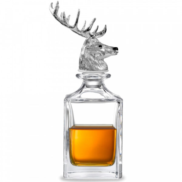 Stag Head Crystal Decanter