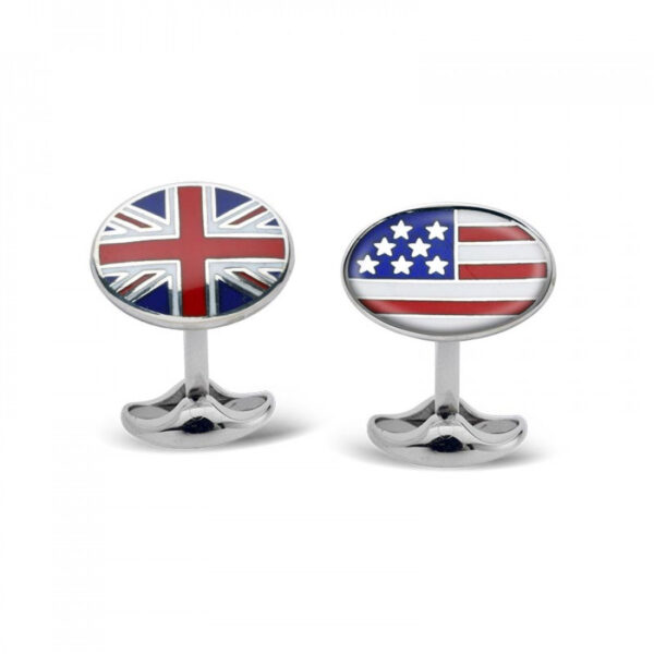 Sterling Silver Friends across the Ocean Cufflinks