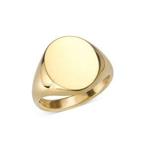 Gold Oval Signet Ring (16.5x14mm)