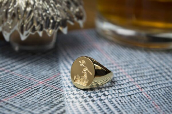 Gold Oval Signet Ring (14x11.5)