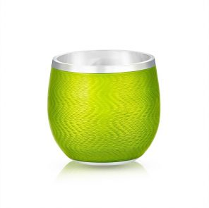 Fabergé Light Green Enamel Shot Glass